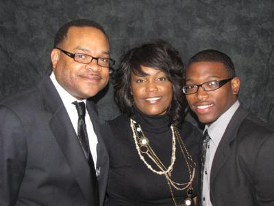 Pastor Breonus M. Mitchell, Sr. (Dad), First Lady Lakisha Mitchell (Ma), and I on Resurrection Sunday 2010 after my public affirmation of my Call to Preach at Greater Grace Temple Community Church