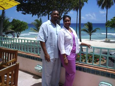 Pastors Eugene and Terry in the USVI for camp and revival.