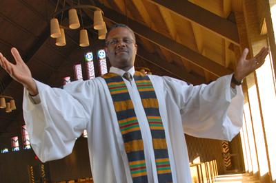 My Pastor Blessing the Congregation of Antioch Missionary Baptist Church