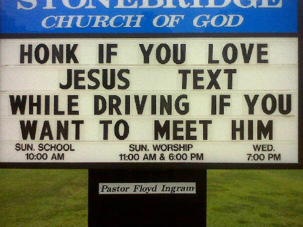 Church Sign Sayings