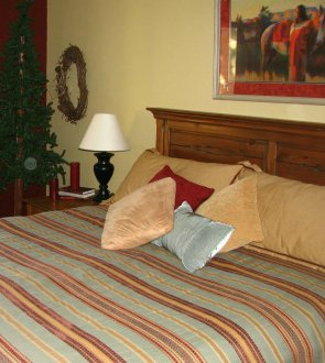 Comfortable Bedroom in Your Private Suite at Colorado Retreats